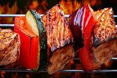 Grilled pork fillet and vegetables — Stock Photo
