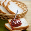 Bread and jam — Stock Photo