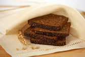 Brown bread slices — Stock Photo