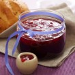 Berry marmalade in a jar — Stock Photo