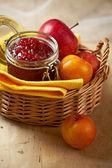 Apple and plum jam — Stock Photo