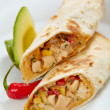 Tortilla wraps with meat and vegetables — Stock Photo
