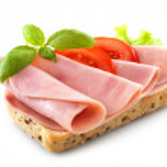 Sandwich with pork ham — Stock Photo #29699979