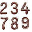 Chocolate numbers — Stock Photo