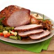 Stock Photo: Roast pork