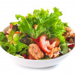Fresh salad with grilled salmon fillet — 图库照片