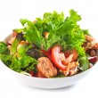Fresh salad with grilled salmon fillet — Stock Photo