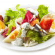 Fresh salad with eggs and anchovies — Stock Photo #34639703
