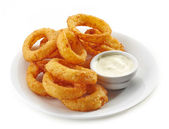 Fried calamari rings — Foto de Stock