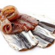 Salted anchovies — Stock Photo