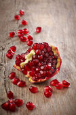 Pieces of pomegranate fruit — Stock Photo
