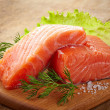 Fresh raw salmon — Stockfoto #38218231