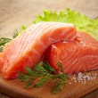 Stock Photo: Fresh raw salmon