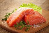 Fresh raw salmon — Stock Photo