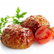 Stock Photo: Juicy fried meat cutlets