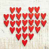 Red decorative hearts — Stock Photo