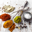 Various spices on a white background — Stock Photo #42879481