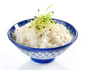 Bowl of boiled rice — Stock Photo