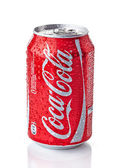 Wet Can of Coca-Cola — Stock Photo