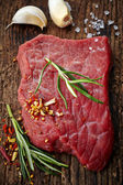 Fresh raw meat for steak — Stock Photo