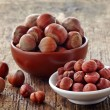 Various hazelnuts — Stock Photo
