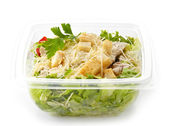 Salad in a plastic take away box — Stock Photo