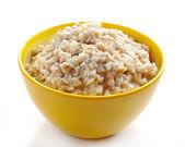 Bowl of various flakes porridge — Stock Photo