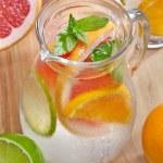Cold citrus fruit drink — Stock Photo #48499181