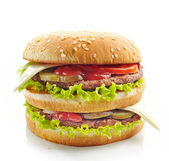 Burger on a white background — Stock Photo
