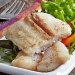 Fried pangasius fish fillet pieces — Stock Photo #49360831