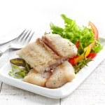 Fried pangasius fish fillet pieces — Stock Photo #49360855