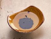 Bowl of oil and balsamic vinegar — Stock Photo