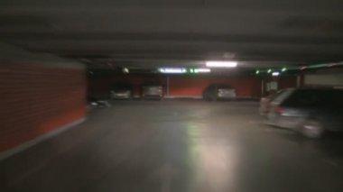Underground parking time lapse — Stock Video