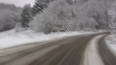 Driving in winter — Stock Video