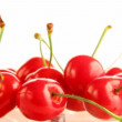 Cherry rotates on a white background — Stock Video #22541535
