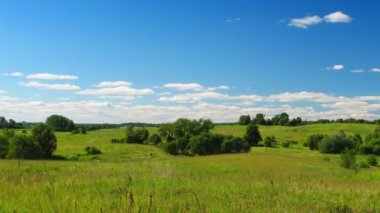 Landscape, cloudy sky, timelapse — Stock Video