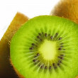 Kiwi on white background, rotate - Stock Photo