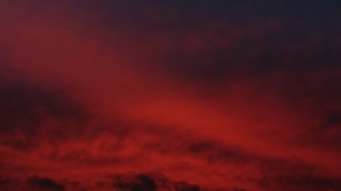 Red sky, timelapse — Stock Video