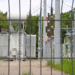 Stock Video: High-voltage transformer substation