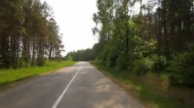 Driving on country road, timelapse — Stock Video