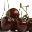 Cherry rotates on a white background — Stock Video