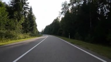 Driving on country road — Stockvideo