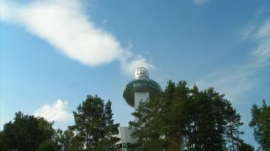 Osservatorio moderno timelapse — Video Stock