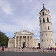 Stock Video: Vilnius, Lithuania, Cathedral Square