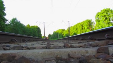 Train, view from below — Stock Video