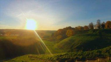 Autumn landscape, panorama, timelapse — Stock Video