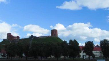 Tower of Gediminas, Vilnius, Lithuania — Stock Video