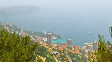 Principality of Monaco, top view, timelapse — Stock Video