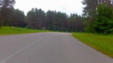 Rural road, timelapse — Stock Video