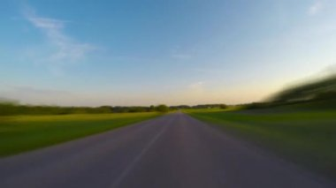 Traveled on rural road, timelapse — Stok video